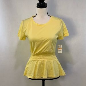 NWT Maison Jules Deco Bloom smocked top